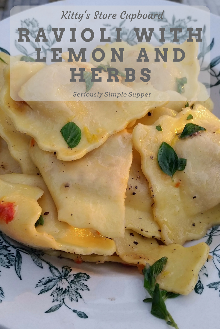 ravioli with lemon and herbs
