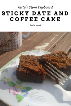 sticky date and coffee cake