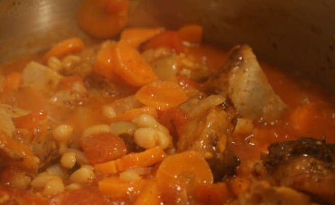 Spicy bean stew