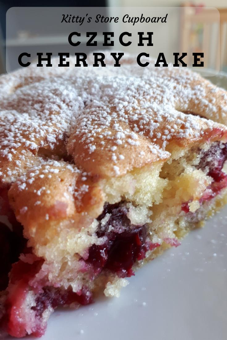 Czech cherry cake